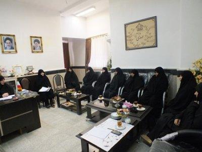 جلسه هم اندیشی مدیر و اساتید مدرسه علمیه الزهرا(س)مینودشت